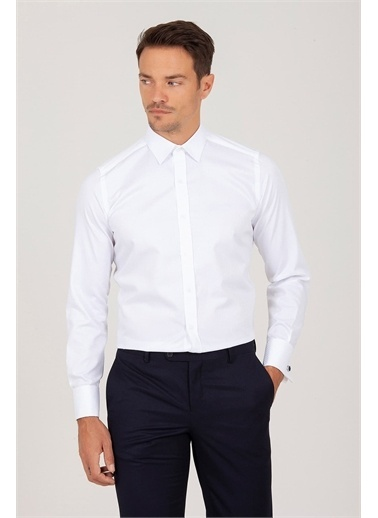 Hatemoğlu Slim Fit Gömlek Beyaz